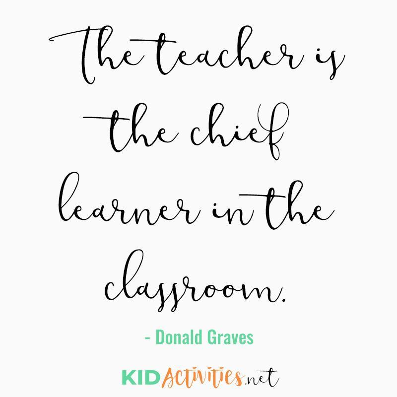 teacher is chief learner