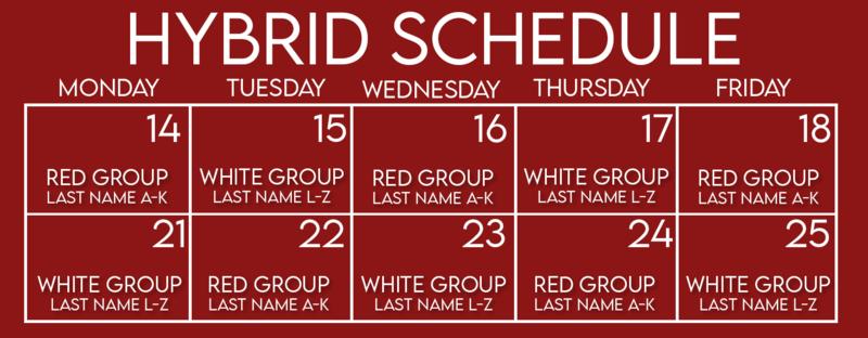 Weeks 3 & 4 Hybrid Schedule