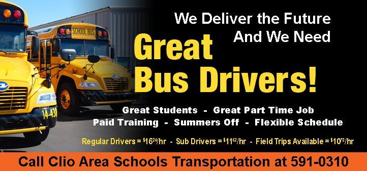 Photo Ad seeking bus drivers