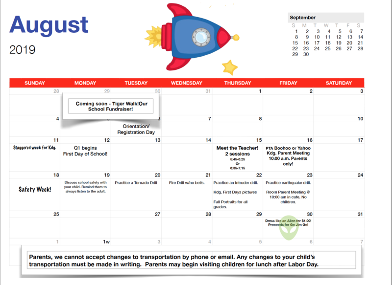 August Calendar Featured Photo