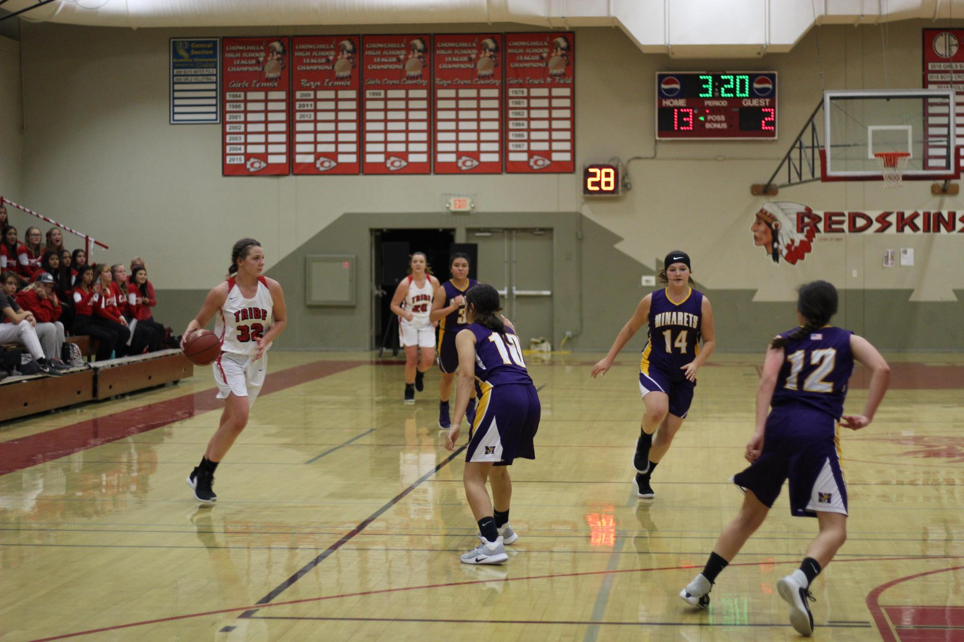 Hannah Stockton with the ball