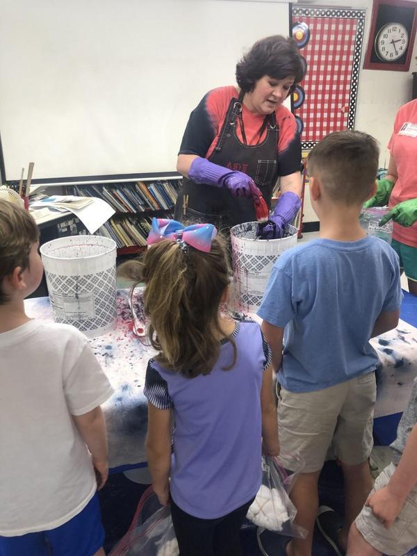 Tie Dye fun with Ms. Baughman