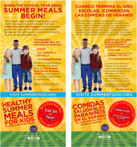 information in Spanish on summer meal program