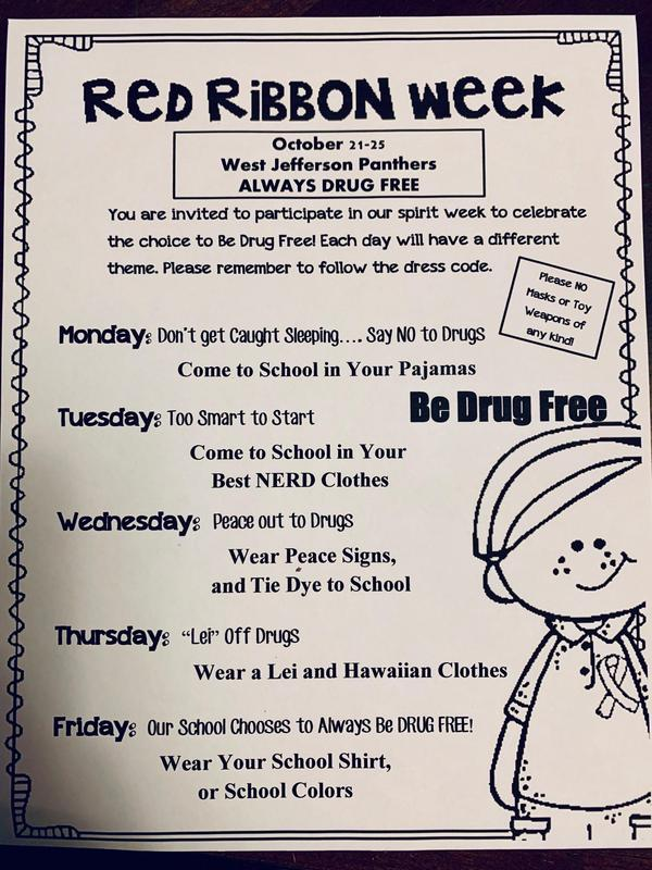 Terreton Elementary Red Ribbon Week Information