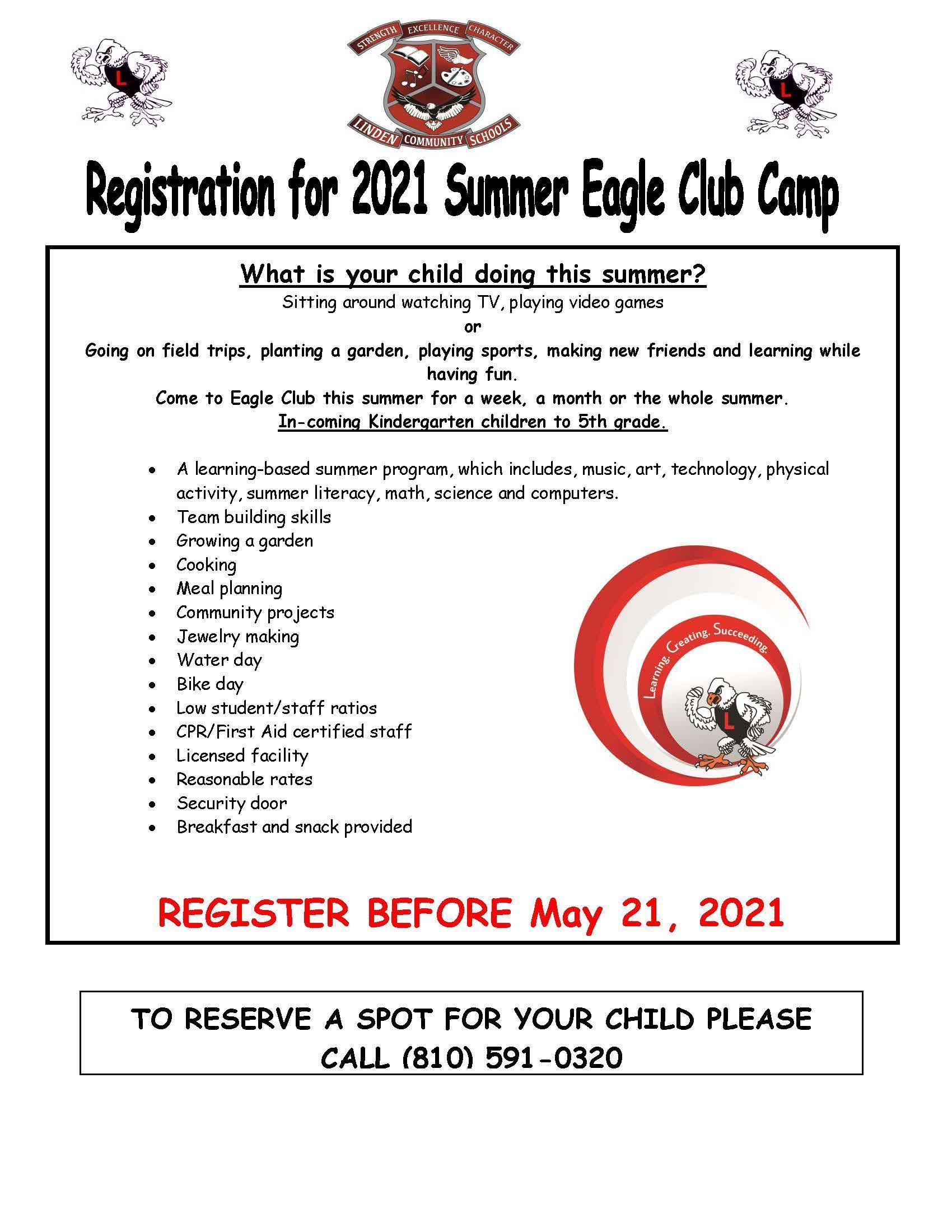 2021 Summer Eagle Club