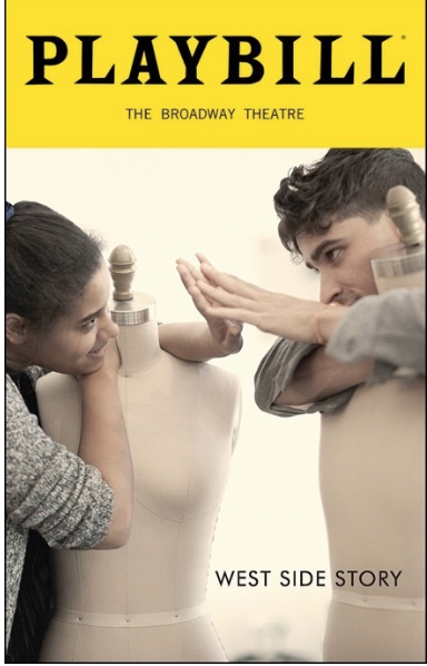 playbill cover for west side story