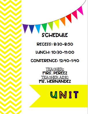 unit schedule
