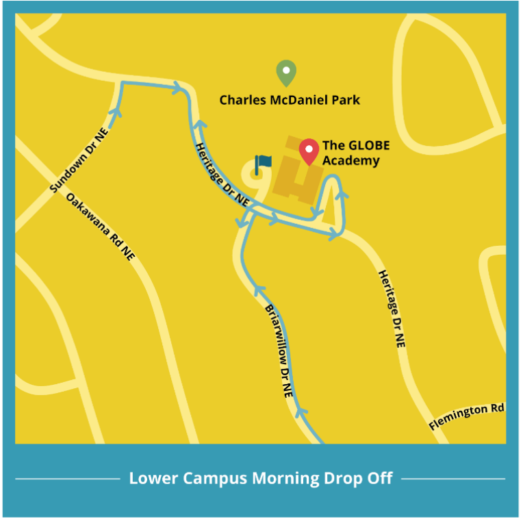 LC drop-off map