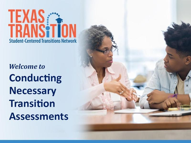 Texas Transition Image of transition assessment
