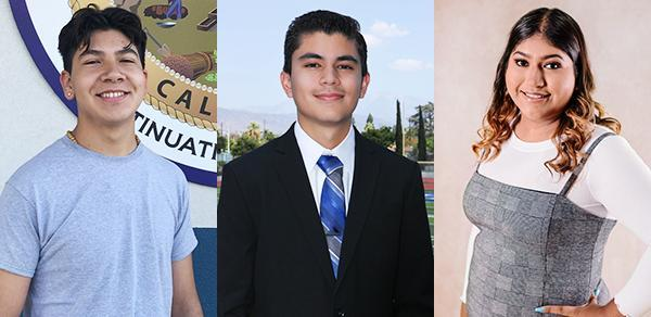 BPHS senior Herman Cortez, NPCHS senior Ezdra Esparza, and SVHS senior Daisy Sanchez will serve as student board members.