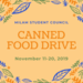 Milam Student Council Canned Food Drive