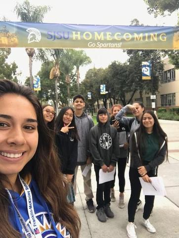 CCA students and Ms. Renteria at the SJSU field trip.
