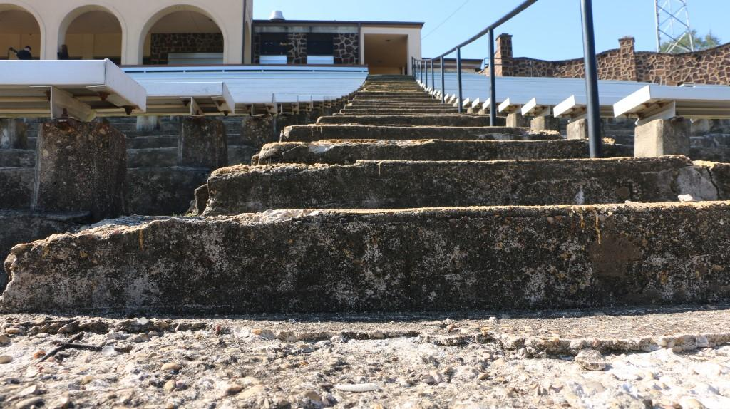 view of the crumbling steps