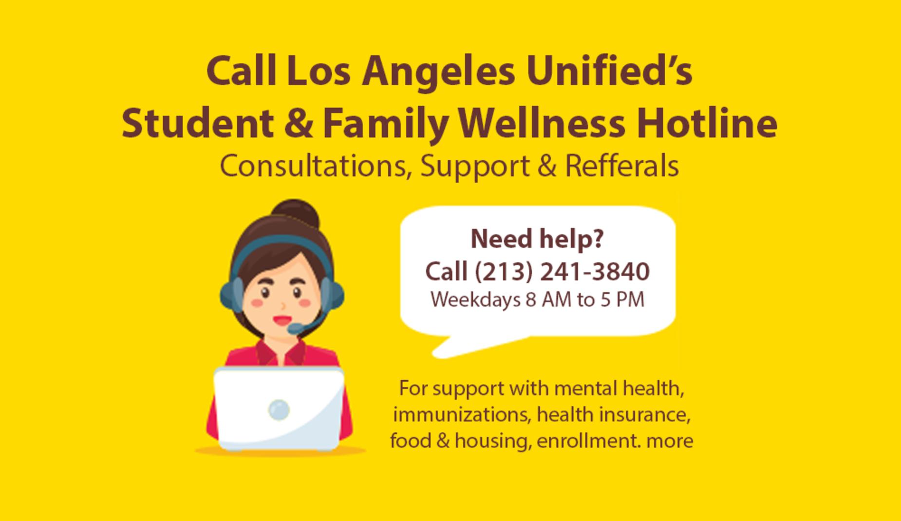 LA Unified Student & Family Wellness Hotline