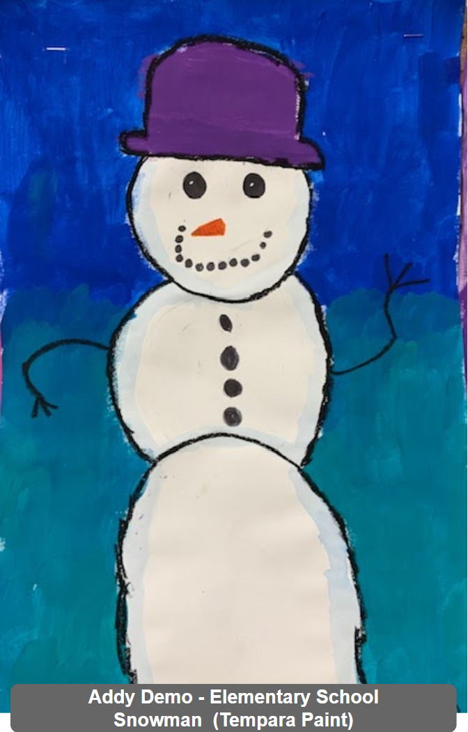 Addy Demo - Elementary School - Snowman (Tempara Paints)