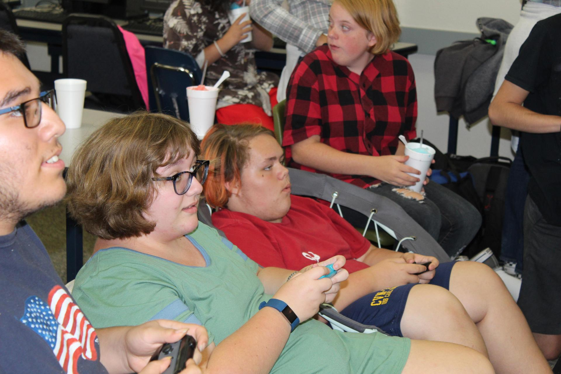 Students having fun at Tech Club Game Night