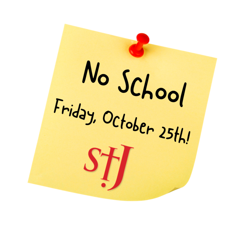 No School - Friday, October 25th! Featured Photo