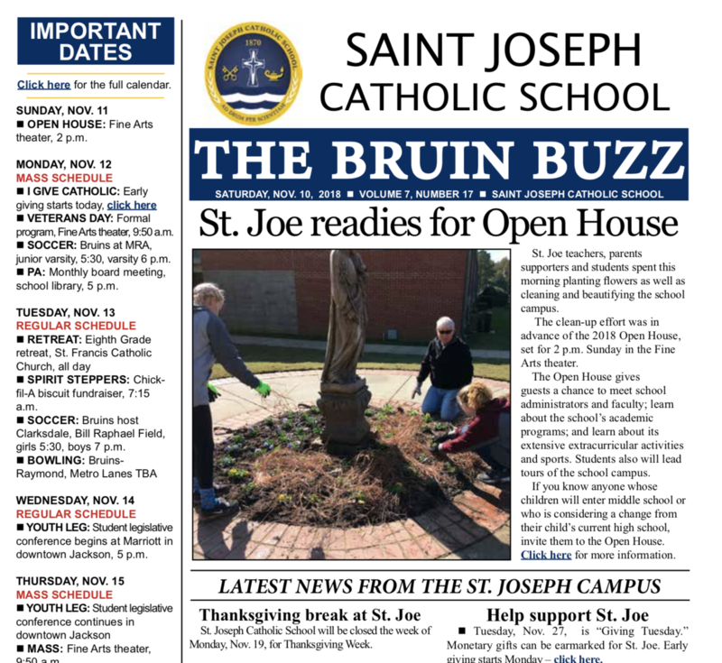THE BRUIN BUZZ: NOV. 10, 2018 Thumbnail Image