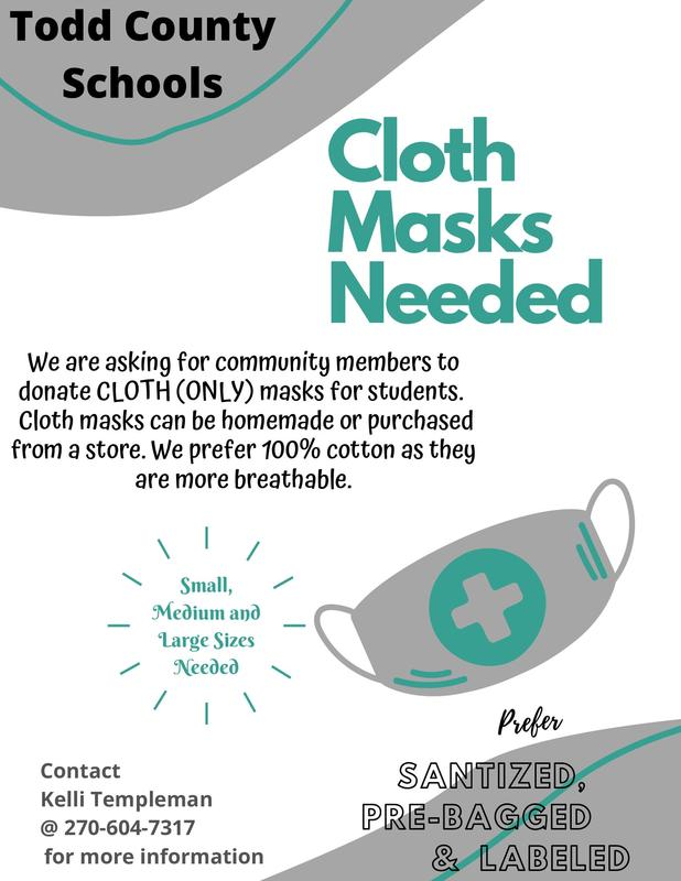 Todd County FRYSC - Mask donations requested Featured Photo