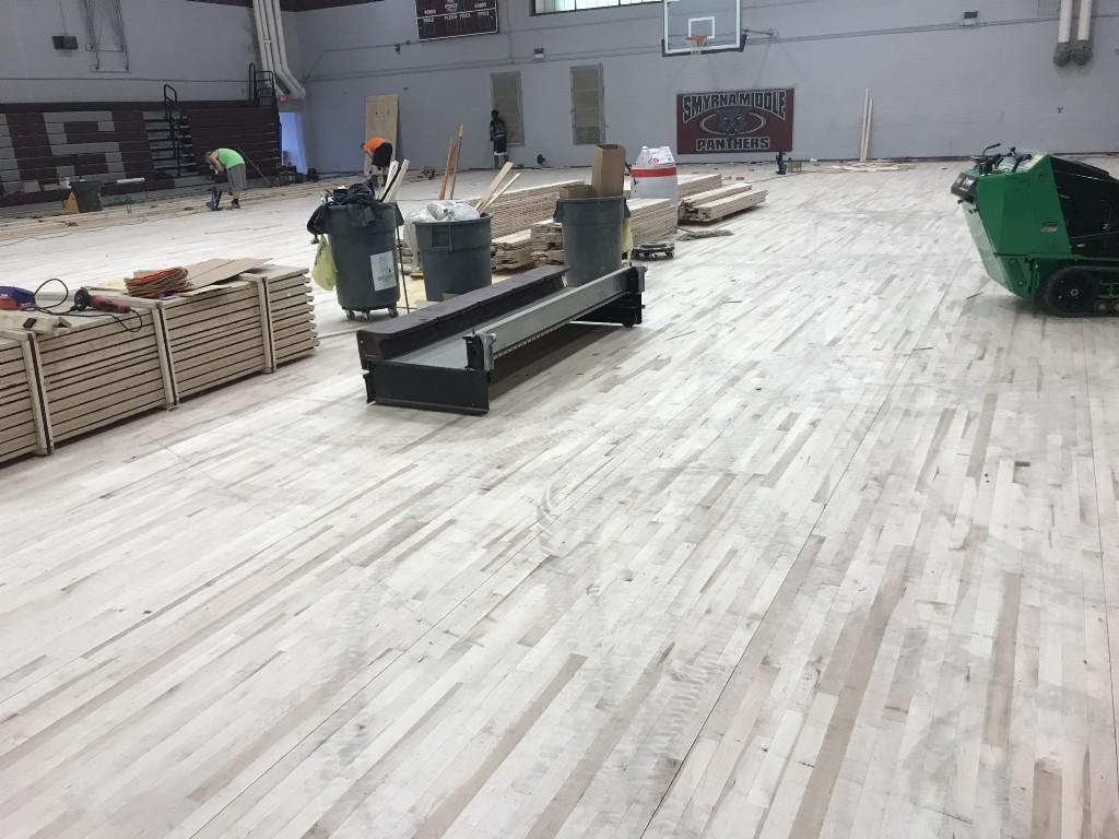Gym Floor Redo August 2017