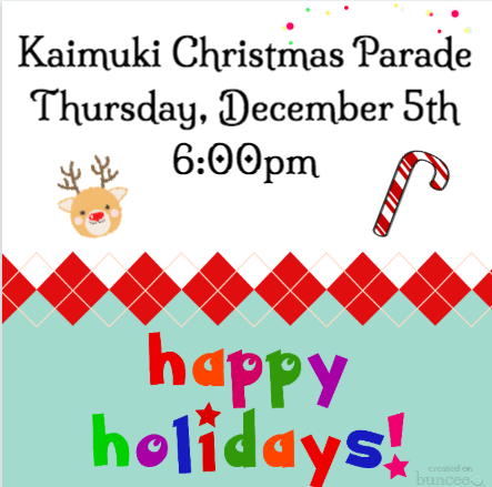 Kaimuki Christmas Parade and Tree Lighting Featured Photo