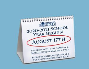 School Year Begins August 17