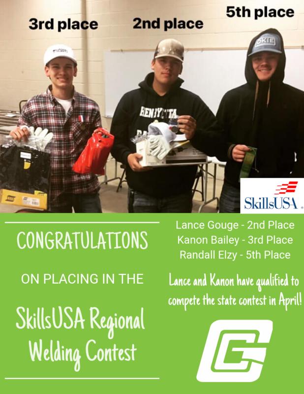SkillsUSA Welding Contest Winners