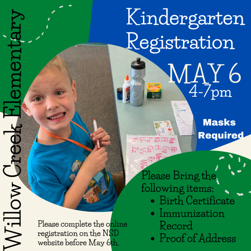 Kindergarten Registration May 6, 2021