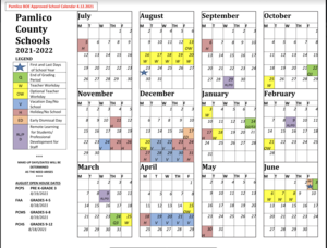 Updated Calendar for 2021-2022 School Calendar