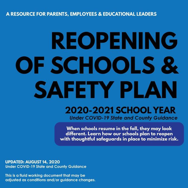 Reopening of Schools and Safety Plan