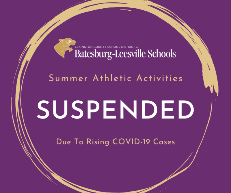 Athletic Activities Suspended