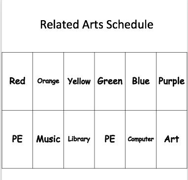 Related Arts Schedule