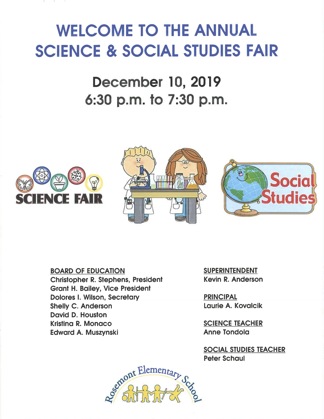 Science & Social Studies Fair Program