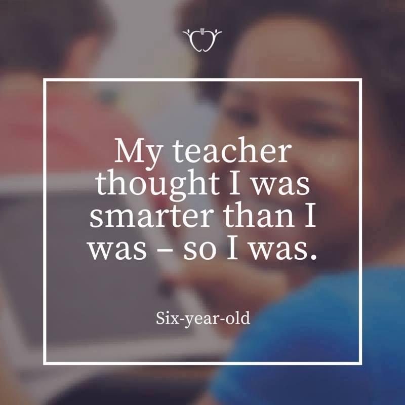 Always believe in students!