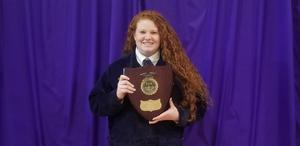 Congratulations to B-L High School sophomore Tabitha Swygert for placing third in the state FFA Dairy Handlers competition that was held in Clemson on April 13th.