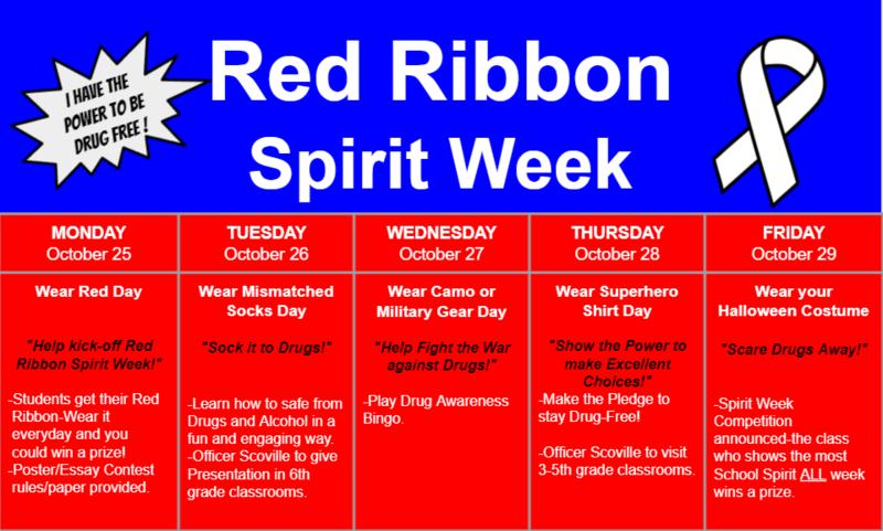 Red Ribbon Spirit Week at Sunset School 2021