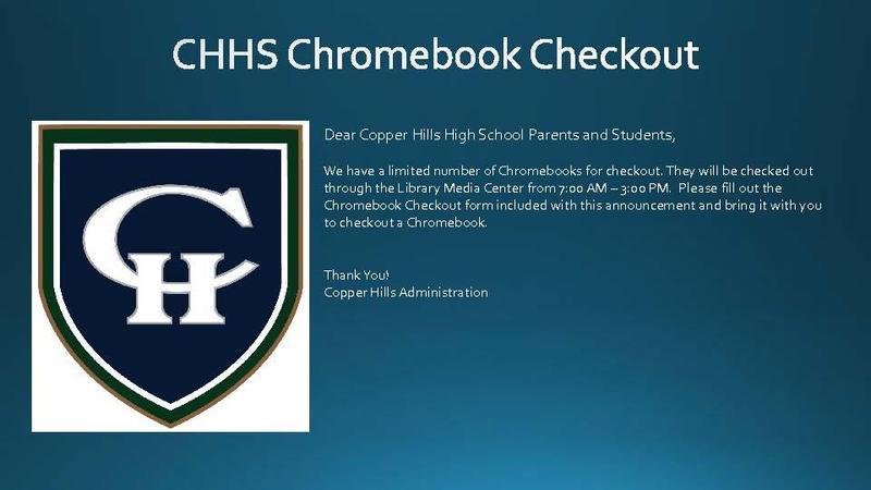 Chromebook Checkout 8-20-2020