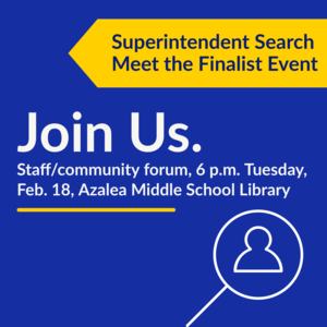 Supt Search finalist forum
