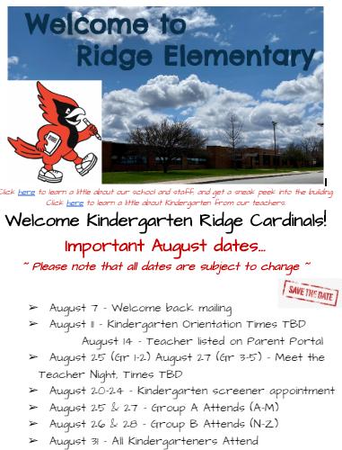 Kindergarten Save The Dates