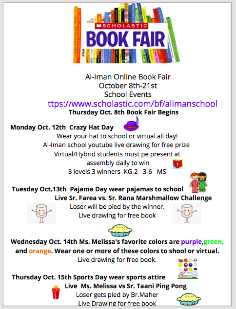 Weekly Events for Book Fair! Featured Photo
