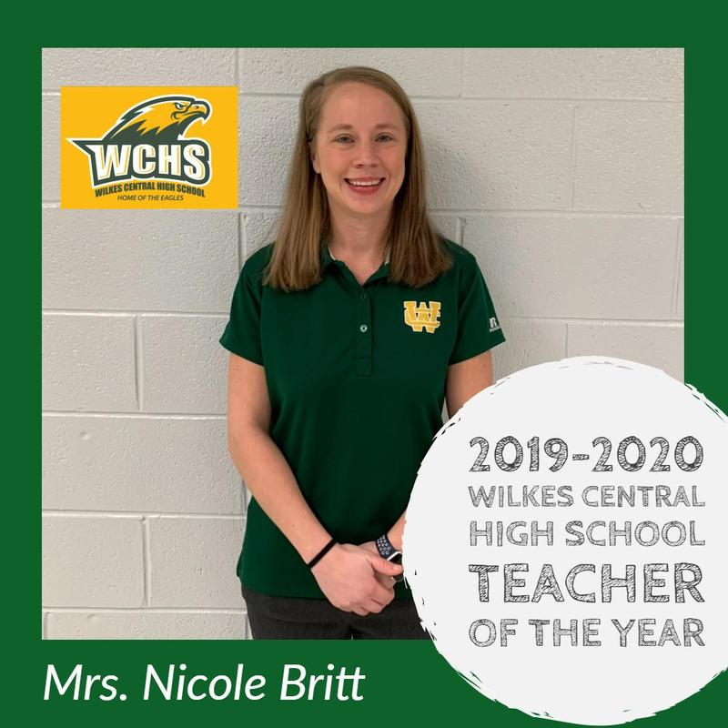 WCHS 2019-2020 Teacher of the Year Thumbnail Image