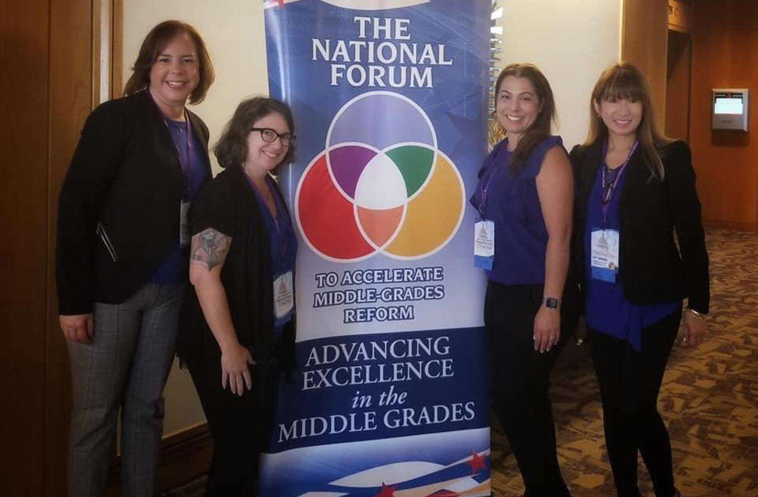 Ross administrators at the National Forum event