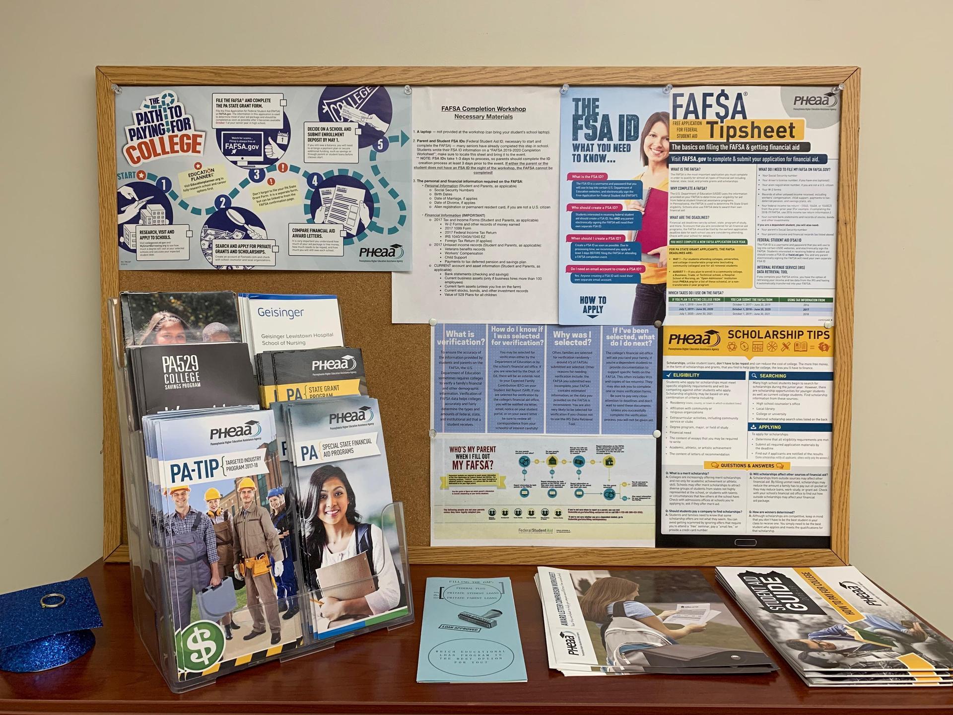 financial aid materials