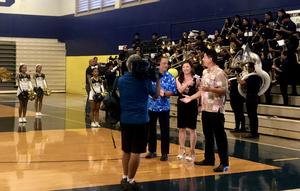 Hawaii News Now Hosts at Waipahu High School's Gym