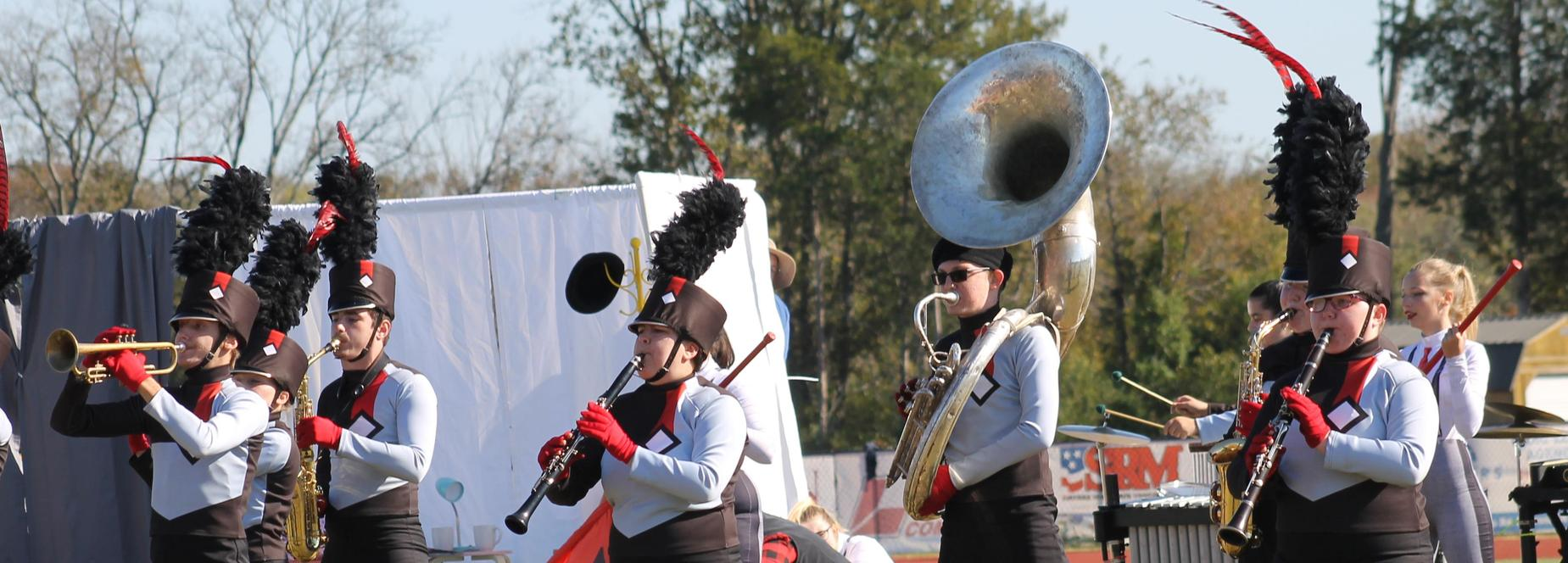 The Cheatham County Central High School band performs at the Division II State Band Championship.