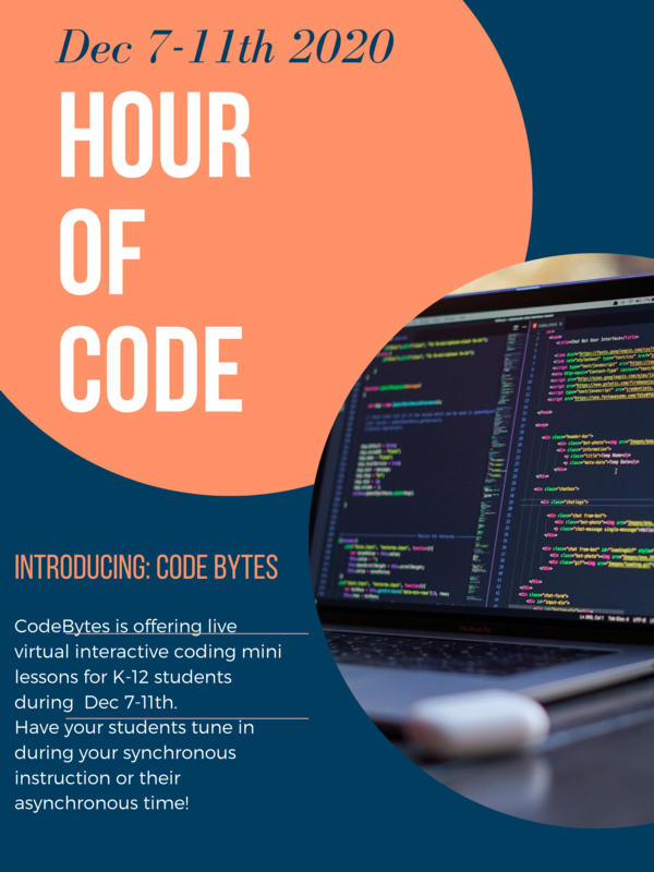 Hour of Code Dec. 7th-11th 2020 Featured Photo