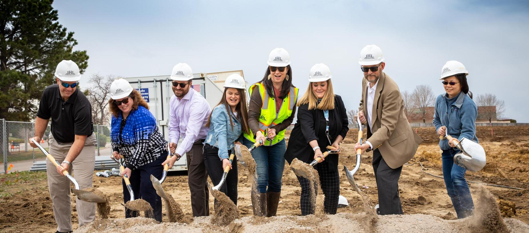 GVA Northglenn Board, Student and Administration at Groundbreaking Ceremony