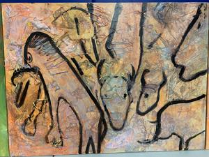cave painting of animals