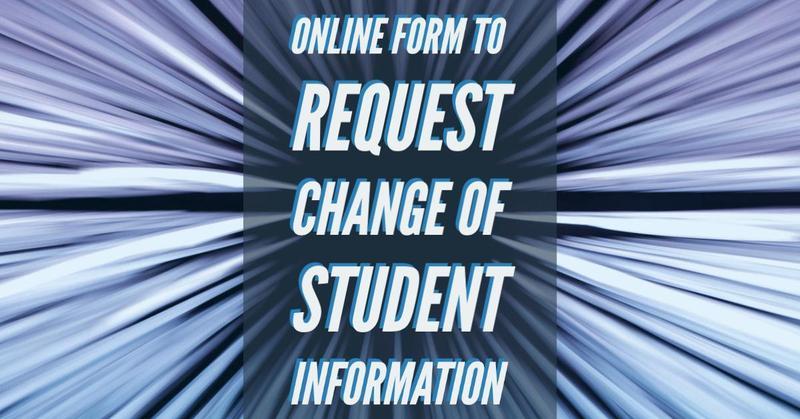 Change Student Info