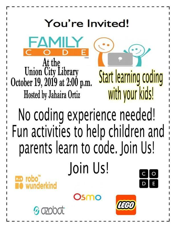 coding at the library flyer